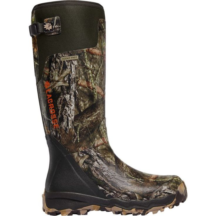 Lacrosse Men's Alphaburly Pro 18'' Rubber Hunting Boots, Size: 12.0, Mossy Oak Brk-Up Country