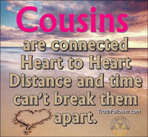Funny Quotes About Cousins | Cousins+are+connected+heart+heart+quotes+n+sayings.jpg