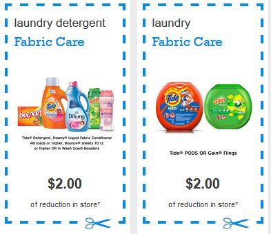 $2 off any One Tide Pods or Gain Flings, $2/1 Bounce Bursts etc.., $1/1 Bounce Sheets & More (Plus awesome deals at Walmart and Kroger)