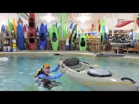 How to Re Enter a Sit On Top Kayak - YouTube