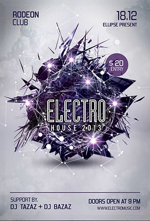 Image Result For Electronic Music Flyer   Electro Dance Haus