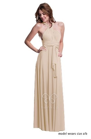 Sakura Convertible Dress Long Nude Champagne
