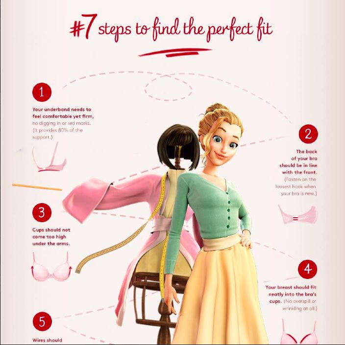 Click here to read the 7 steps to a perfect fitting bra! #Triumph #fittips