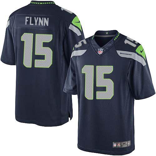 Men Nike Seattle Seahawks #15 Matt Flynn Limited Steel Blue Team Color NFL Jersey Sale