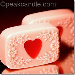 DIY Valentine's Heart Embed Soaps