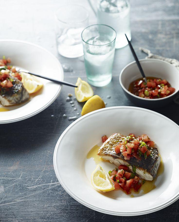 Pan-Fried fish with Pico de Gallo Salsa #paleo #recipe