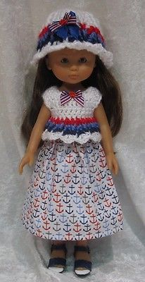 Handmade-Clothes-for-your-13-LES-CHERIES-COROLLE-dolls-Top-Hat-Skirt-18