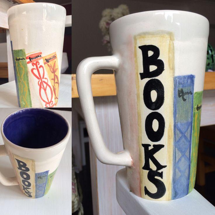 Taza Ceramica. Books 💜