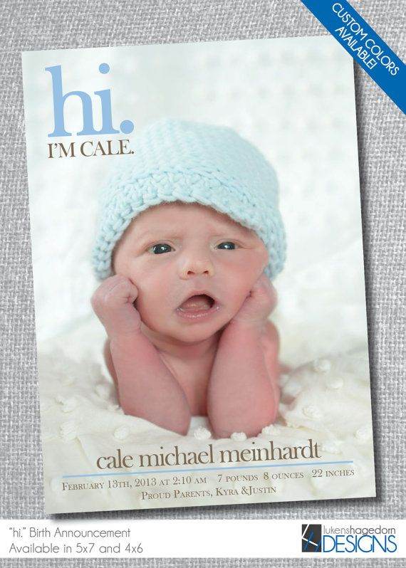 17 Best images about Birth announcement ideas – Birth Announcements