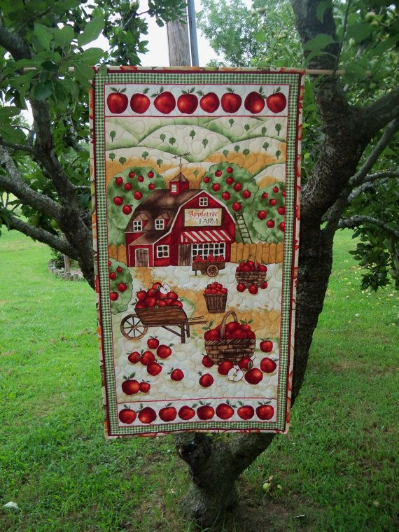 Apple Tree Harvest Quilted Wall Hanging Door by PerfectStitches