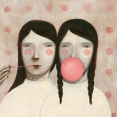 By Ofra Amit - from: http://www.ofra-amit.blogspot.com/2011/04/double-gum.html