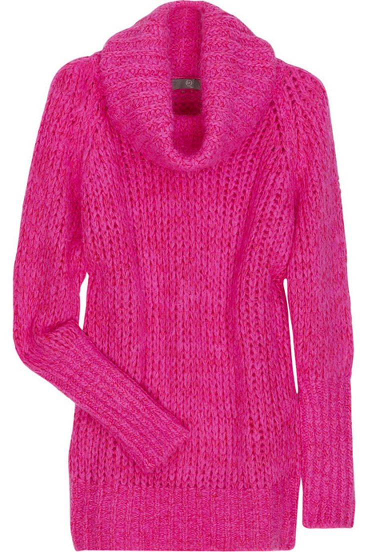 Fashion Sweaters | Oversized Fuchsia Sweater Made from Wool by McQ on January 20, 2011 ...
