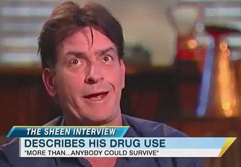 Charlie Sheen describes his drug use