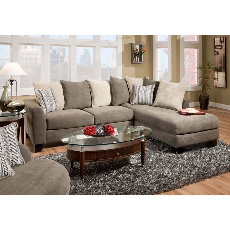 Have to have it. Chelsea Home Sheridan Upholstered 2 Piece Sectional Sofa - $1239.99 @hayneedle