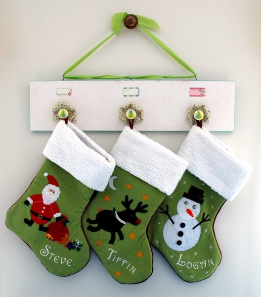Stocking BoardArt Ribbons, Old House, Crafts Ideas, Christmas Stuff, Christmas Stockings, Holiday Stuff, Holiday Decor, Christmas Ideas, Christmas Craftscard