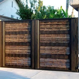 Black Bamboo Fencing - Black Bamboo Fencing is great for traditional yard enclosure, you can also use it to cover chain link, cement walls a...