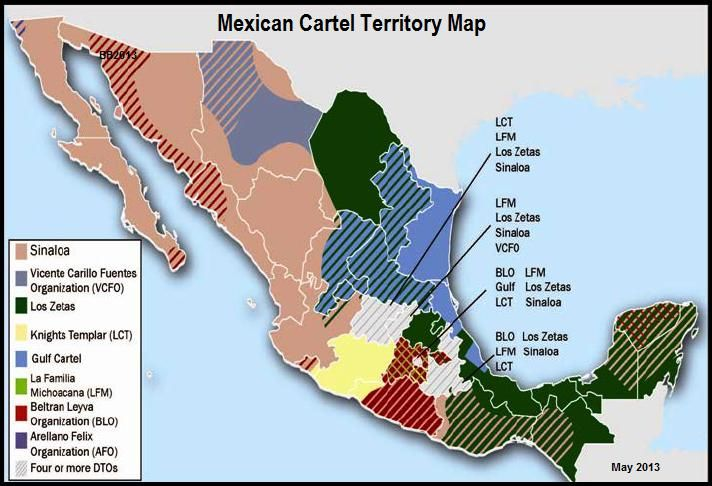 Mexican Drug Cartel Female | Thismap above show the areas of each Mexican Drug Cartels influence ...