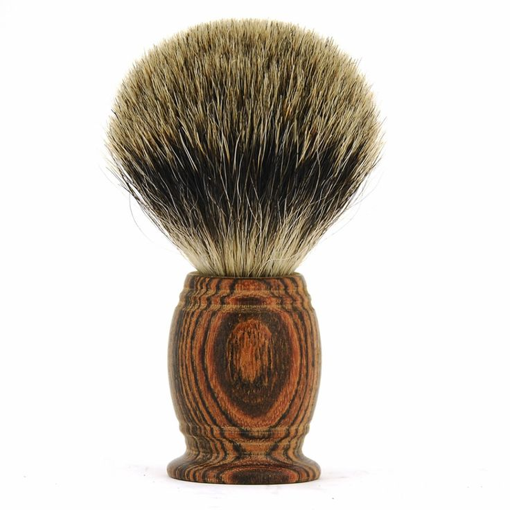 ZY Men Sandal Natural Wood Shaving Beard Brush Finest Badger Hair Barber Shave Beard Soap Brush #Affiliate
