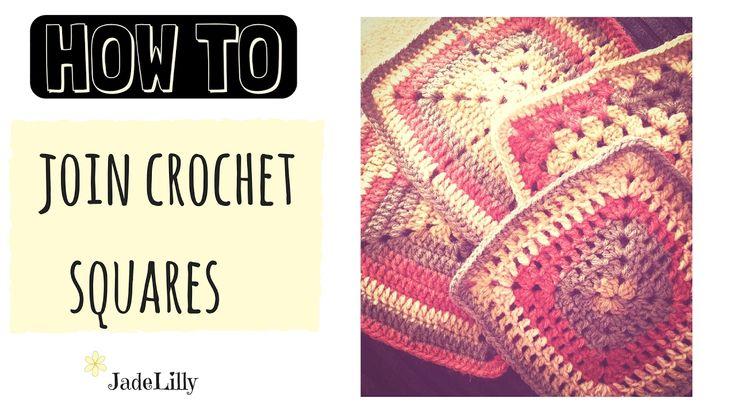 Beginner Joining Squares and bordering Crochet - Jade Lilly Crochet