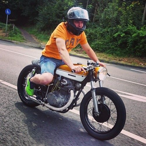 #Honda #cb350k #Flowstyle #Goldzillaracer by #KlassikKustoms finally on the road