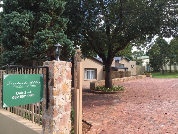 Treelands Abbey Unit 2,3,4 Entrance gate. Parking behind electric gate. Dullstroom Accommodation, self-catering suites.
