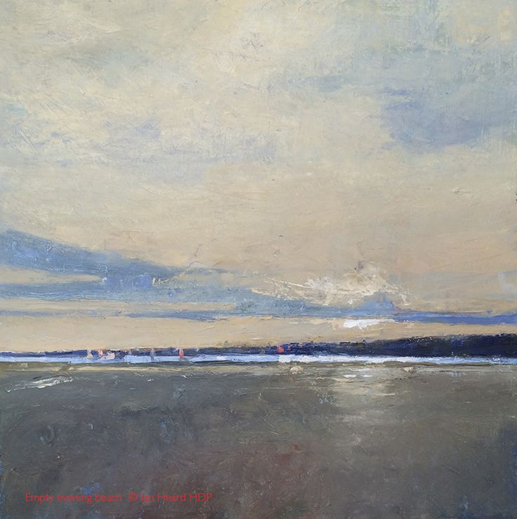Empty Beach. Oil on board 50cm sq. I really like this one and am not in a hurry to sell it. That said, you never know...