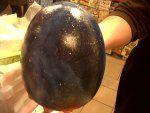 Huevo de cerámica en imitación piedra