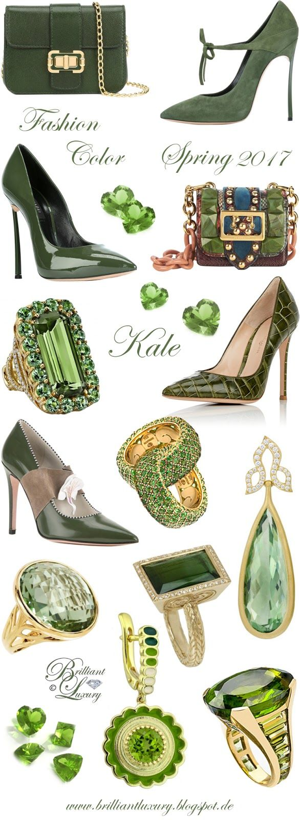 Brilliant Luxury by Emmy DE ♦ Fashion Color Spring 2017 ~ kale