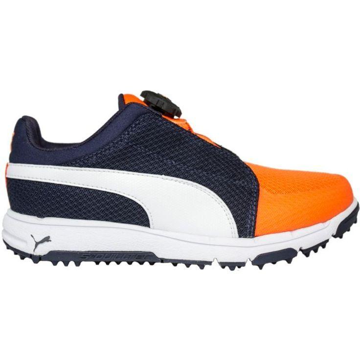 Puma Kids' Grip Sport JR Disc Golf Shoes, Blue