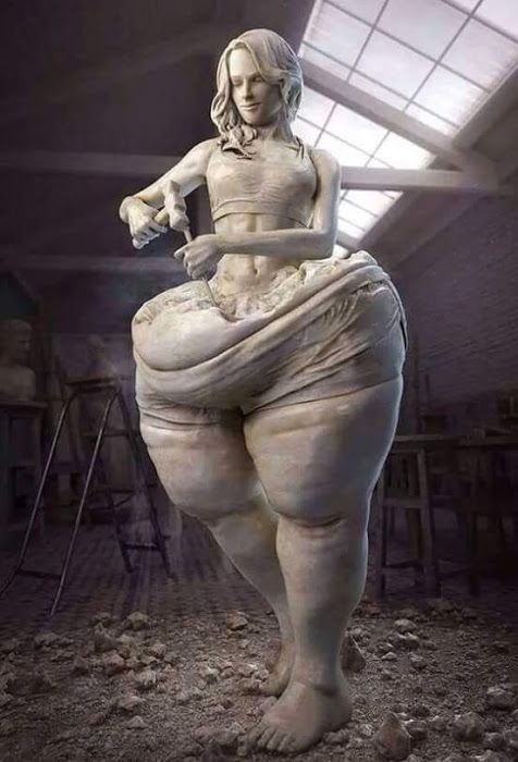 Image result for weight loss sculpture