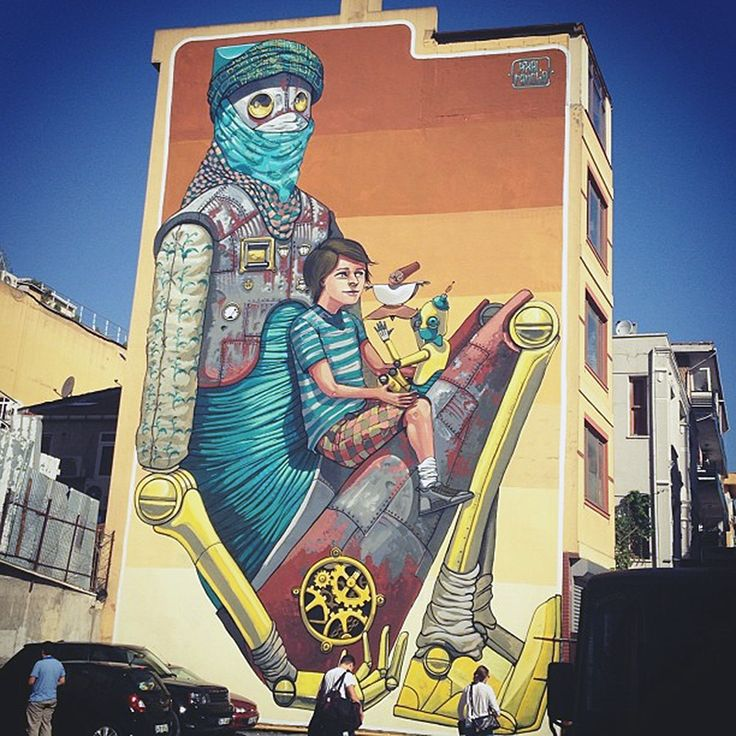 Pixel Pancho's New Mural In Istanbul, Turkey StreetArtNews. If you stop by Istanbul, you can go and check out this mural art on Nüzhet Efendi Sk 56-66 Osmanağa Mh., 34660.