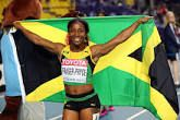 Shelly-Ann Fraser-Pryce, OD (born December 27, 1986)[2] is a Jamaican track and field sprinter. Born in Kingston, Jamaica, Fraser-Pryce ascended to prominence in the 2008 Olympic Games, when, at 21 years old, the then unknown athlete became the first Caribbean woman to win 100 m gold at the Olympics.[3] In 2012, she successfully defended her 100m title, becoming the third woman to win two consecutive 100m events at the Olympics.