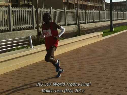 Collen Makaza Final IAU 50K World Trophy 2012 in Vallecrosia-Bordighera (ITA) - October 20th 2012 - poster borad