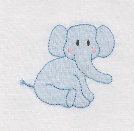 Shadow Work & Embroidery :: Babies :: Shadow Baby Elephant