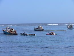 Fishing vessels and diamond prospectors in Port Nolloth harbour