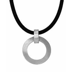 Circulation pendant in sterling silver