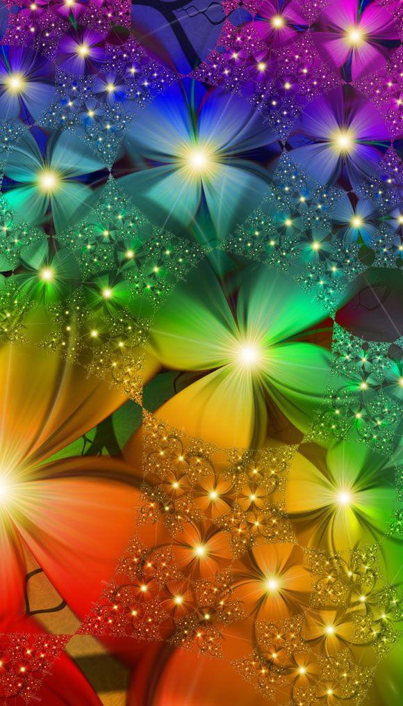 Rainbow Garden -- colour shades to inspire art, design or new fused glass goodies at Latch Farm Studios www.latchfarmstudios.co.uk