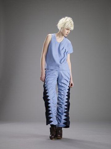Unique asymetrical pleat top by RAGGATT