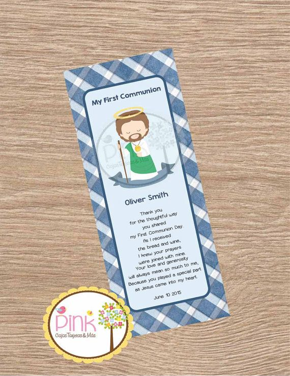 First Communion Favor Cards/ Bookmark / by PinkCajasyTarjetas