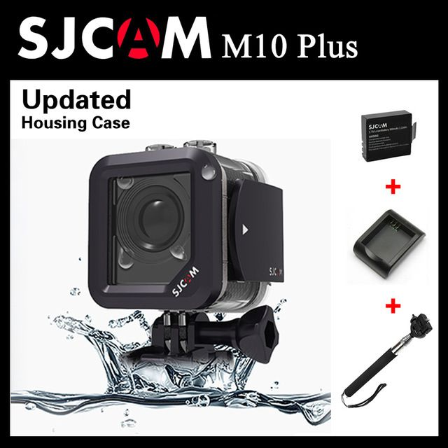 SJCAM M10 Plus WiFi 2K Video Resolution Mini Action Camera Waterproof Camera 1080P +Extra 1pcs battery+Battery Charger+Monopod US $102.02  Click link to buy other product http://goo.gl/K0keet