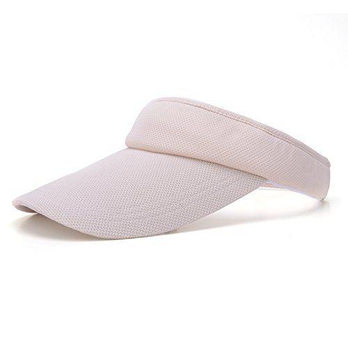 Unisex Summer Sports Cap Golf Tennis Beach Adjustable Velcro Visor Sun Plain Hat Black: Amazon.co.uk: Sports & Outdoors