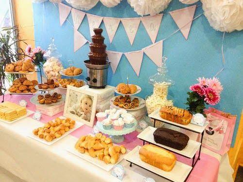 Tarta chic mesa dulce para el bautizo de nerea mesa - Mesas para buffet ...