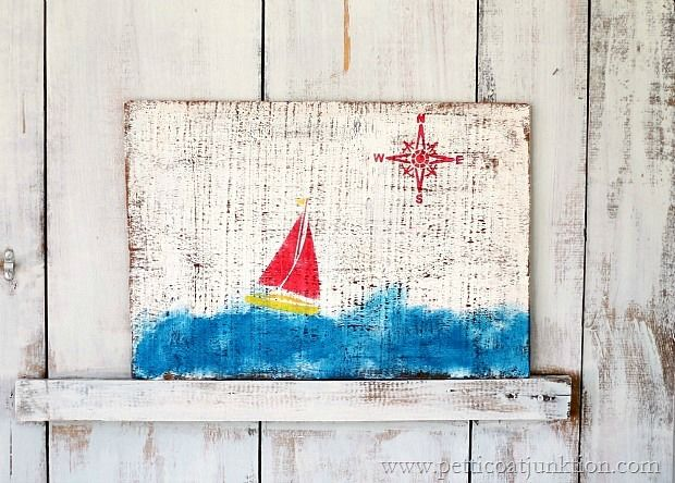 Nautical Wall Decor {20 Minute DIY}. Petticoat Junktion #nautical #beach #fun