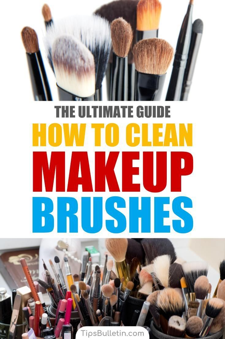 4 Easy Ways To Clean Makeup Brushes How To Clean Makeup Brushes Clean Makeup Makeup Brushes