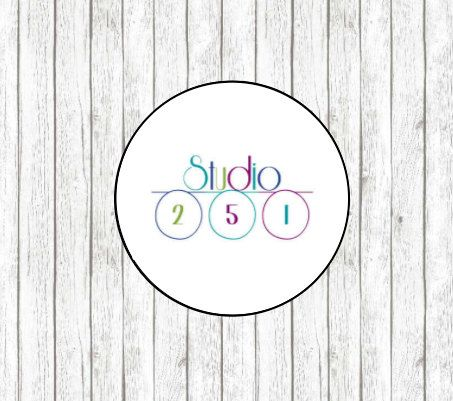 Small Round Logo Labels : Set of 108 Custom by YoursTrulyDesignsCo