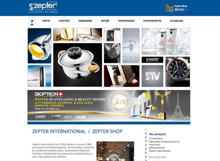 Zepter Finland sai uudet kotisivut Kotisivukoneen Avaimet käteen -palvelun avulla.