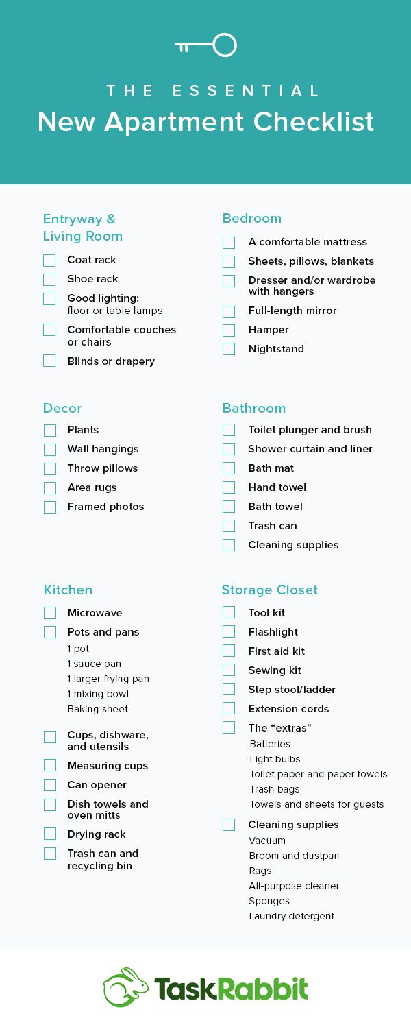 The Essential New Apartment Checklist | The Essential ...