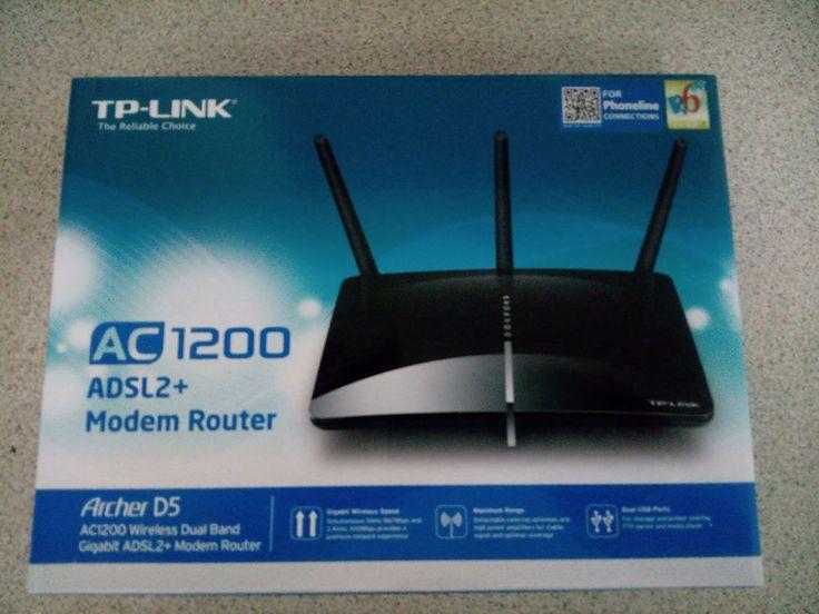 TP-Link ARCHER D5 AC1200 Wireless Dual Band Gigabit ADSL2+ Modem Router