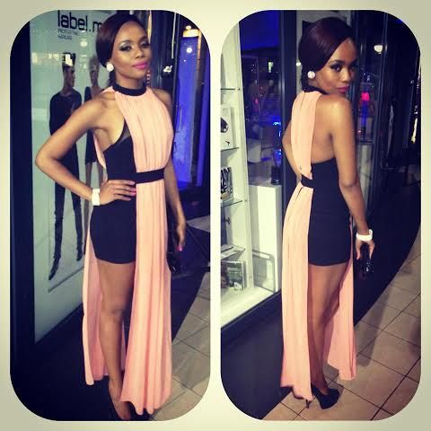 """Queen """"B"""" (Bonang), Looking amazing wearing   a dress previously sold at CINNEL"""