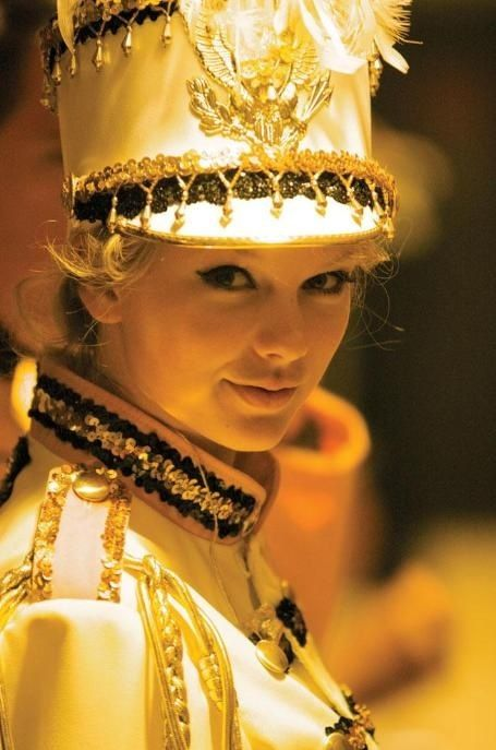 """Taylor Swift on the set of her very first song of the Fearless tour, """"You Belong With Me."""""""